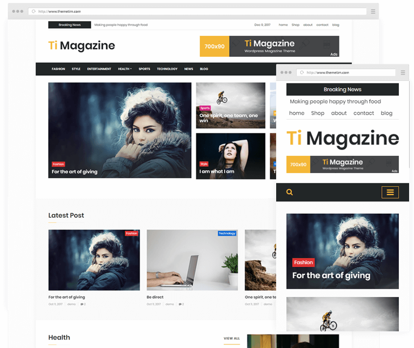 Ti Magazine is Multipurpose News, Blog & Magazine WordPress Themes