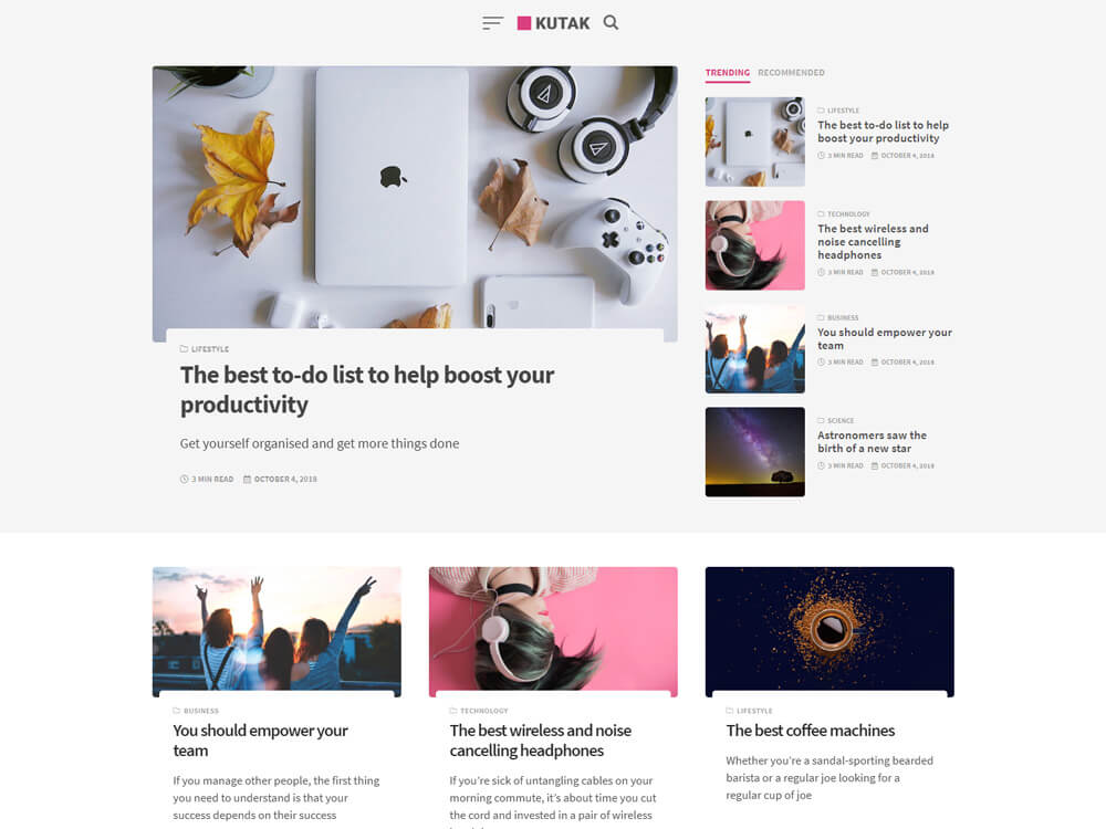 25+ Best Free WordPress Magazine Themes 2019 -Themetim