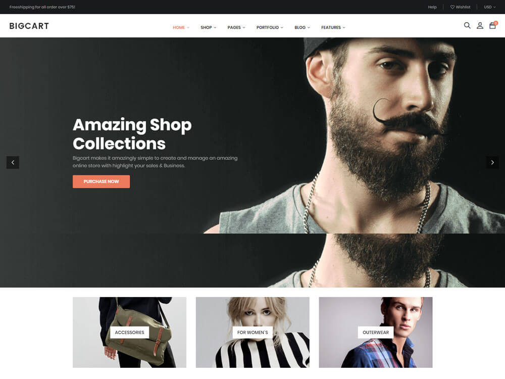 Wordpress one page theme