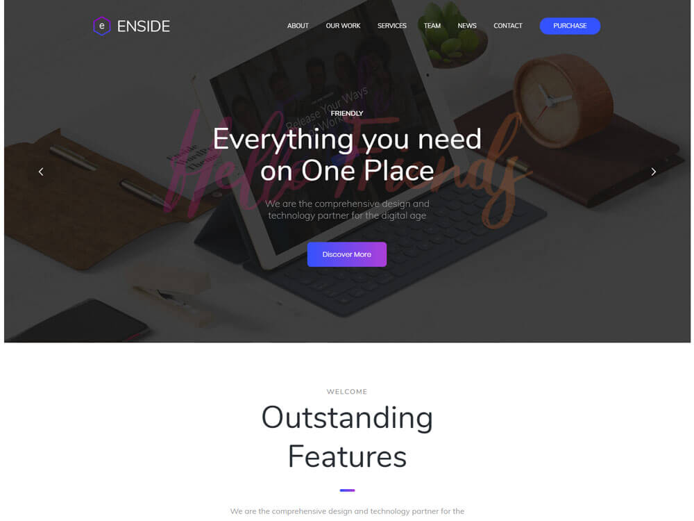 Single page wordpress woocommerce theme