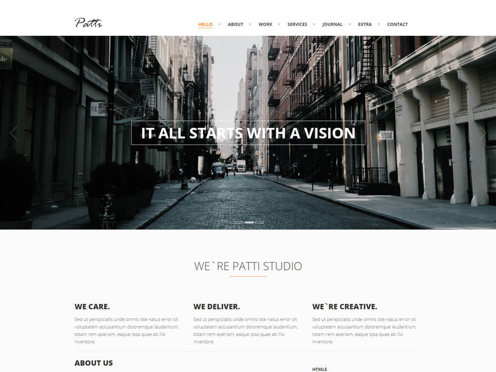 Responsive one page woocommerce theme